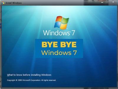 Fin màj Windows 7